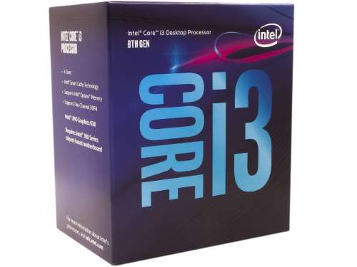 Scatola processore Intel Core i3-8100