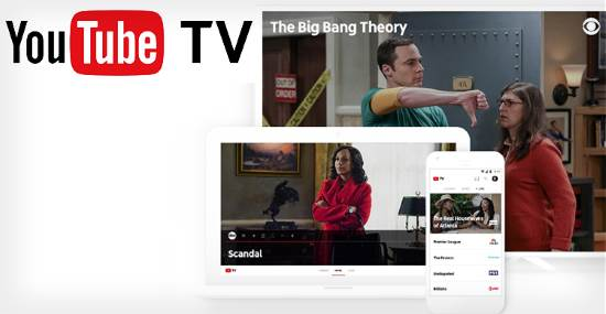 YouTube TV su smartphone e tablet