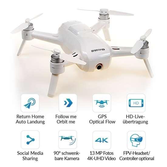 Yuneec Breeze funzionalità e caratteristiche drone