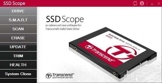 Advanced SSD Scope: Software per monitorare un SSD Transcend