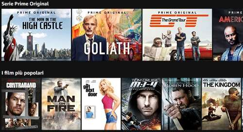 Amazon Prime Video per vedere film e serie TV in streaming