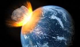 Collisione di un asteroide con il pianeta Terra