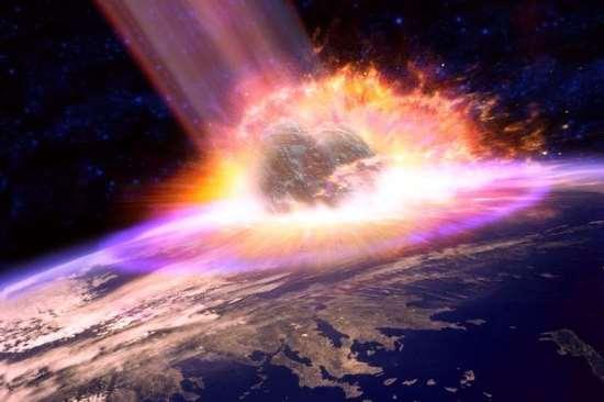 Impatto catastrofico di un meteorite su Marte