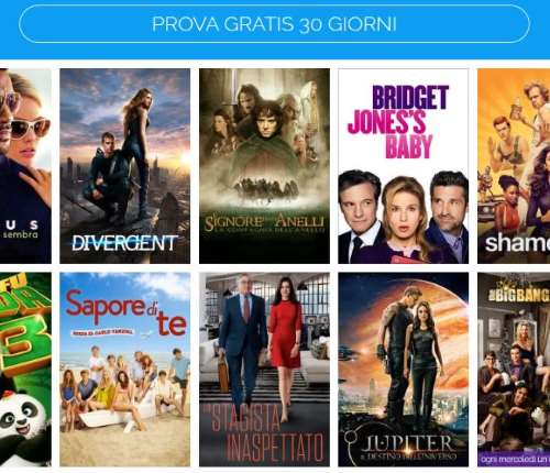 Infinity per vedere film e serie TV in streaming