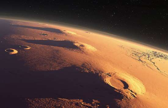 Vulcani su Marte