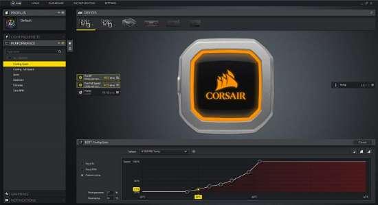 Corsair iCUE: Software per il controllo delle ventole e dell'illuminazione a LED del dissipatore a liquido Corsair