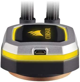 Estetica e illuminazione a LED raffreddamento a liquido AIO Corsair H100i PRO RGB