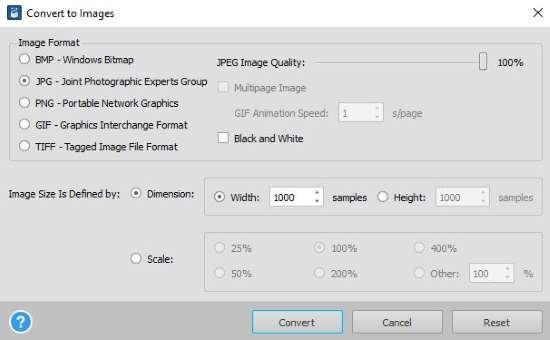 Convertire file PDF in immagine