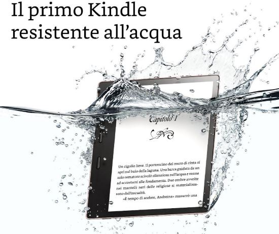 E-reader Kindle Oasis resistente all'acqua