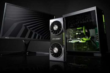 PC da gaming con scheda video GPU Turing