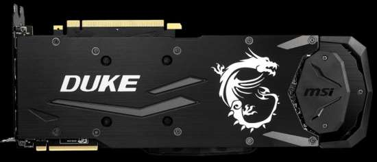 Piastra posteriore scheda video MSI GeForce RTX 2080 Ti DUKE