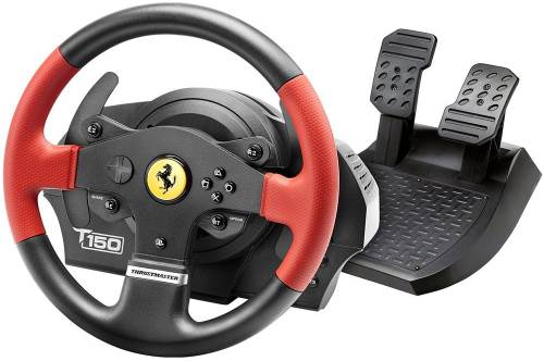 Volante e pedana per PC e console Ferrari