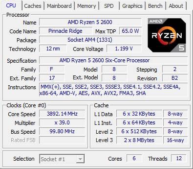 AMD Ryzen 5 2600 CPU Z recensione e prestazioni