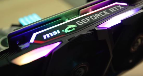 MSI GeForce RTX 2080 Gaming X Trio illuminazione a LED RGB