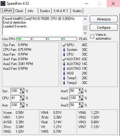 Temperature processore i5-7600K