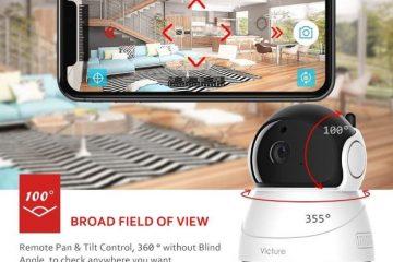 Victure FHD 1080P Telecamera di sorveglianza WiFi