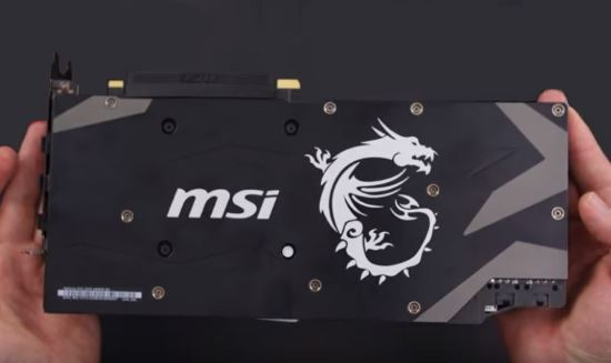 MSI GeForce RTX 2070 Armor backplate