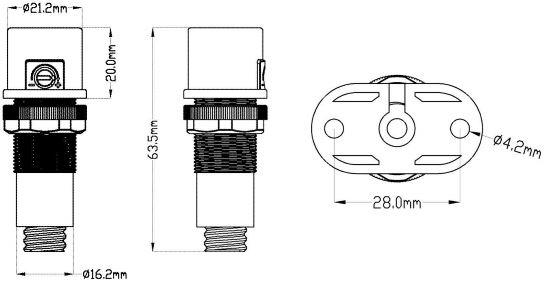 Misure sensore di luce
