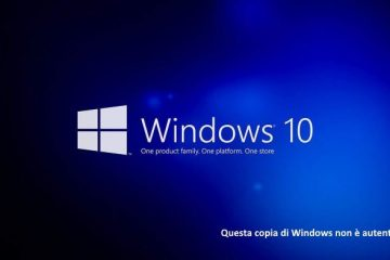 Questa copia di Windows non è autentica