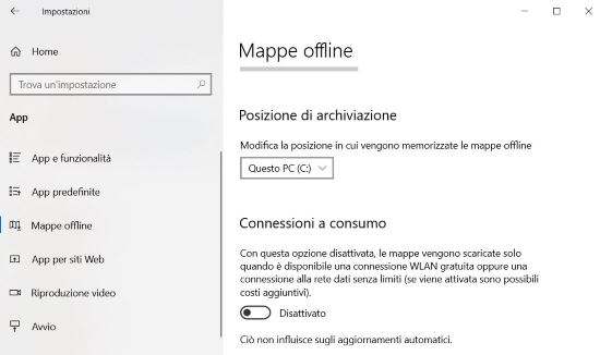 Mappe offline Windows 10