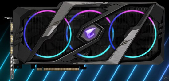 Gigabyte Aorus GeForce RTX 2070 Super 8G illuminazione a LED RGB