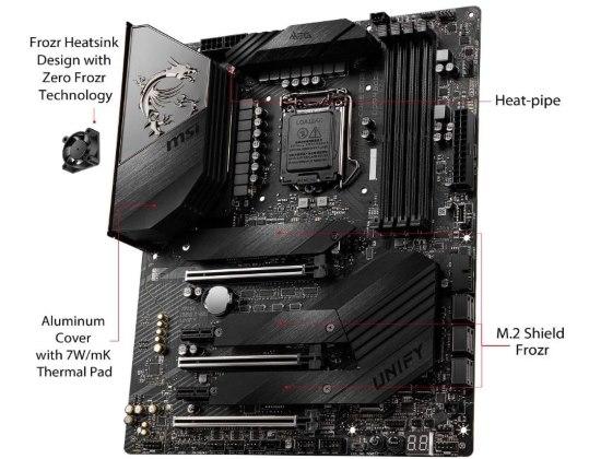 MSI Z490 UNIFY caratteristiche ed estetica