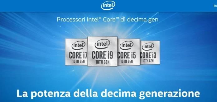Processori Intel di decima generazione