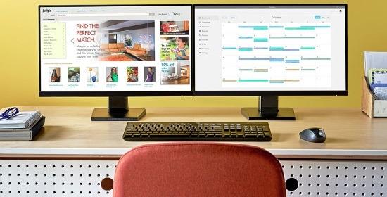 Configurazione con 2 monitor HP 22w
